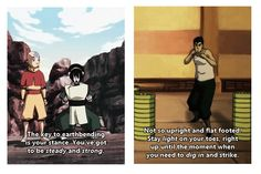 """The first time I saw that scene I was like """"I bet Toph would have a few things to tell him...also she's probably rolling over in her grave."""""""