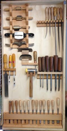 Right Door, Chisels, Rasps, Scrapers, Spokeshaves Antique Woodworking Tools, Woodworking Workshop, Woodworking Projects Diy, Woodworking Shop, Woodworking Plans, Antique Tools, Workbench Plans, Welding Projects, Workshop Storage