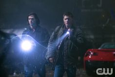 """Supernatural -- """"Halt & Catch Fire"""" -- Image SN1013A_0015 -- Pictured (L-R): Jared Padalecki as Sam and Jensen Ackles as Dean -- Credit: Katie Yu/The CW --  © 2015 The CW Network, LLC. All Rights Reserved"""