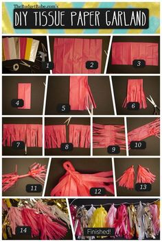 This past winter, I made my first tissue paper tassel garland for my sister's bridal shower. The process was relatively easy (albeit time consuming) and the results were oh-so charming! Now that I'm d