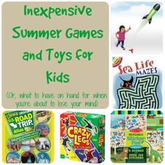 Inexpensive Kids' Games and Toys to Keep them Busy All Summer Long - Mindfully Frugal Mom Kids Fun, Games For Kids, Cool Kids, Baby Kids, Summer Camp Activities, Summer Games, Game Ideas, Party Ideas, Outdoor Games