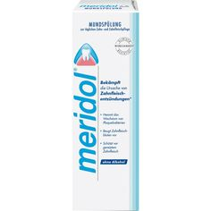MERIDOL Mundspülung gegen Zahnfleischentzündung:   Packungsinhalt: 400 ml Lösung PZN: 03713120 Hersteller: CP GABA GmbH Preis: 5,87 EUR…