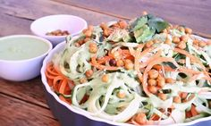 Groentespaghetti met avocado roomsaus | Goodfoodlove