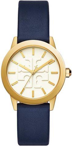 f0daabe81 Tory Burch GIGI WATCH, BLUE LEATHER/GOLD TONE, 36 X 42 MM #watch  #wrist_watch #stunning_stylish #gold_navy_color #shopstyle