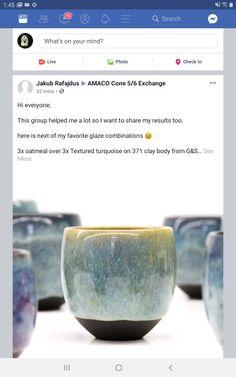 Glazes For Pottery, Ceramic Pottery, Ceramic Art, Glazing Techniques, Pottery Techniques, Painting Techniques, Amaco Glazes, Ceramic Glaze Recipes, Ceramic Coffee Cups