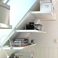 Finished and unfinished attic storage ideas (image by IKEA)