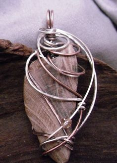"Painted Ladies Wire Wrap Jewelry ""Serene 0713"""