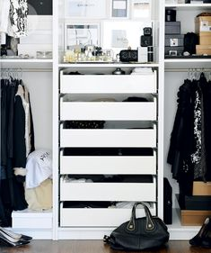 Designer and blogger Erica Cook styles her IKEA storage systems to look like high-end boutiques.