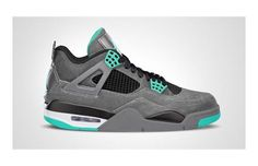 a2196557e31 Air Jordan IV Dark Grey Green Glow-Cement Grey  sneakers  Jordan Jordans