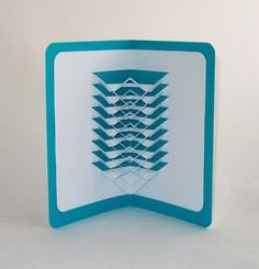 3D POP UP SCULPTURE CaRD of Geometric Lines by BoldFolds on Etsy, $15.00