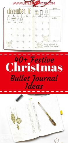 Check out these inspiring Christmas bullet journal spreads to get you ready for the festive season! Bullet Journal For Beginners, Bullet Journal How To Start A, Bullet Journal Spread, Bullet Journal Layout, Bullet Journal Inspiration, Journal Ideas, Bullet Journals, Journal Prompts, Journal Themes