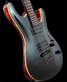 Black flame top and natural binding. Jazz Guitar, Music Guitar, Guitar Amp, Cool Guitar, Acoustic Guitar, Custom Electric Guitars, Custom Guitars, Ukulele, Mundo Musical