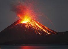 Eruption at Anak Krakatau in June 2009