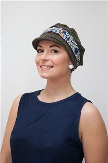 014e8e907f0 Chemo hat with a difference or super stylish hat for womens hair loss. Soft  and easy wear to pull on and look good in!