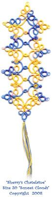 """Tatting Tales ~ All things Tatting (It's an obsession): New batch of """"Sunset Clouds"""""""