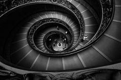Vatican Museum Spiral Staircase. Designer: Giuseppe Momo (1932). Photo: Tom Novicki.