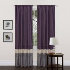 This colorful faux silk window panel transforms and brightens the room. A series of four pleats gives the panel a clean and very finished look and a rod pocket provides quick and easy installation.