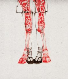 the white deer - peony yip. illustrations of humans interacting with animals.