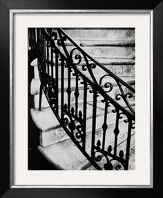 Steps and Iron Railing Photographic Print by Brian Cencula at Art.com