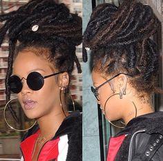 Rihanna street style fashion outfit 2016 Anti era Fenty badgalriri dreads locs riri Barbados candid