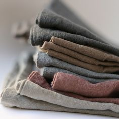 Rustic Linen Tea Towels / 100% Linen Dish Cloths