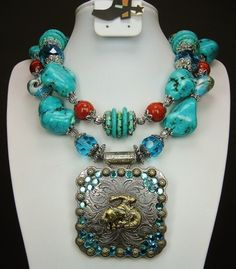 Chunky Western Turquoise Necklace