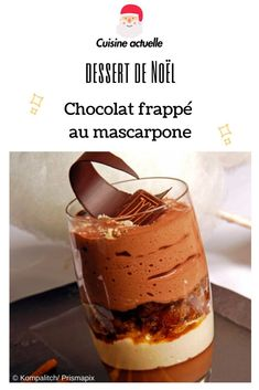 Chocolat frappé au mascarpone When the milk desserts are eaten, it is not possible to describe the taste that emerges during the . Types Of Desserts, Fun Desserts, Dessert Recipes, Dessert Thermomix, Chocolate Deserts, Milk Dessert, Frappe, Beignets, Cake Art