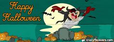 Tasmanian Devil Happy Halloween Facebook Cover Facebook Timeline Cover