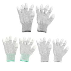 High Elastic Anti Static Gloves Gray Labor Working Safely Security Gloves Grey S M L High Quality Hot Sale #Affiliate