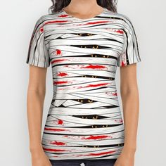#Halloween mummy bandages All Over Print Shirt by Gaynor Carradice   Society6