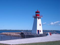 Portage Island Range Rear Light, Formerly Portage Island, now located at Shippagan, New Brunswick, Canada