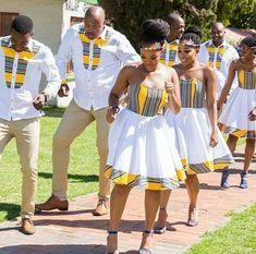 DKK African fashion Ankara kitenge African women dresses African prints A African Bridesmaid Dresses, African Wedding Attire, African Dresses For Women, African Print Dresses, African Print Fashion, Africa Fashion, African Attire, African Wear, African Fashion Dresses
