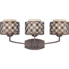 $145.57 amazon - Nuvo 60/4563 Margaux Patina Bronze Three Light Vanity