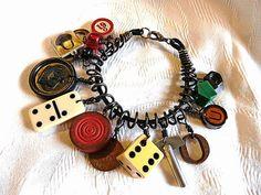 Game Pieces Bracelet. (Monopoly would make a lovely bracelet