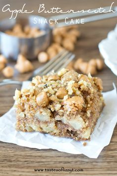 Serve up this moist Apple Butterscotch Snack Cake for a special fall treat. The apple, nut and butterscotch flavors blend together in an amazing way