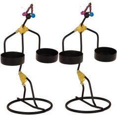 Buy Craftghar Jugglers T Light Holder Black 2 Pcs Online in India - CR624DE48TYTINDFUR - FabFurnish.com