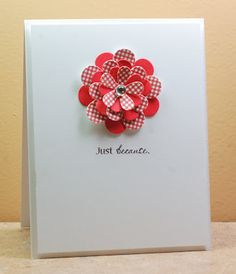 "Beautiful card!  Simple, colorful.. just love it.  By Lynn Mangan of ""The Mango boys and me"" blog."