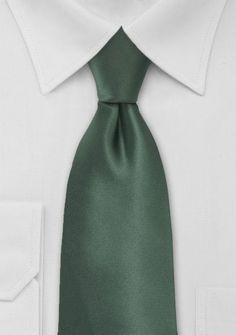 Solid Color Tie in Pine Green - ties shop - yellow/green