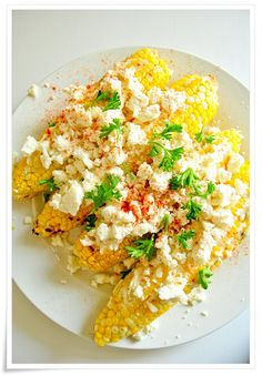 """Grilled Corn with Garlicky Mayo + Queso Fresco (aka """"Mexican Street Corn"""")"""