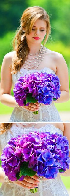 Simple purple floral bouquet - glam and natural!