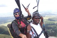 Paragliding in Durban with Wild Sky Paragliding. Wild Sky Paragiding School is run by Hans and Ria Fokkens. We offer tandem flights, courses and guiding. With our vast experience and good safety record you will be in great hands learning to fly here. Adventure Activities, Adventure Tours, Shark Diving, Kwazulu Natal, Paragliding, Tandem, Beautiful Beaches, South Africa, Safety
