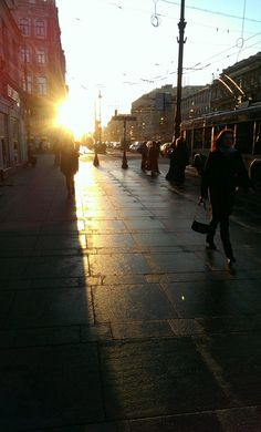The Morning Sun. Saint-Petersburg, Russia