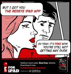 RedEye iPad Retro Comic Campaign on Behance