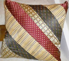 Mens Necktie Pillow by frankcreations on Etsy, $20.00, way cute and creative!!