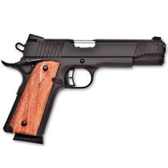 "Citadel M-1911 Semi Automatic Pistol 9mm Luger 5"" Barrel 8 Rounds Checkered Wood Grips Black Finish CIT9MMFSP - 682146280777"