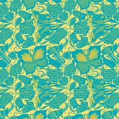 This pattern is adapted from the Schwalbenschwanz (Swallowtail) fabric design by Dagobert Peche (Austrian, 1886–1923), a leading designer in the Wiener Werkstätte.
