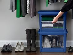 Love the stacking and front access. maximize the space – Rubbermaid All Access Organizers