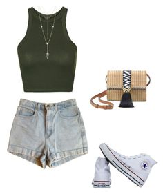 """Untitled #457"" by taylor-edmonds on Polyvore featuring Topshop, American Apparel, House of Harlow 1960, Converse and Stella & Dot"