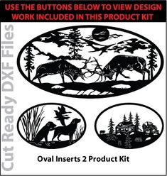Includes 21 Cut Ready DXF File Designs to choose from! Click the image to view all of the designs included in this product kit!