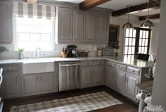 Kitchen Cabinets Remodeling The Finishing Touches on Our Kitchen Makeover (Before and Afters) by Dear Lillie Kitchen Redo, Kitchen Layout, Kitchen Design, Kitchen Cabinets, Kitchen Makeovers, Gray Cabinets, Kitchen Ideas, Kitchen Countertops, Kitchen Display